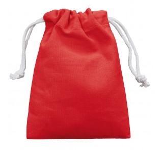 Saco de algodón con cordón doble para mascarillas de color rojo